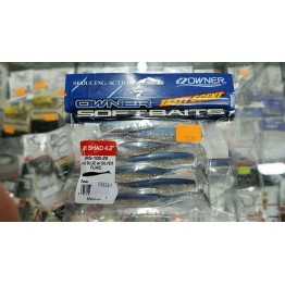 "Owner JR Shad 4.2"" Pro Blue Silver Flakes"
