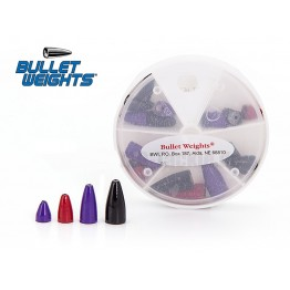 Bullet weights colored - lead 18 pcs